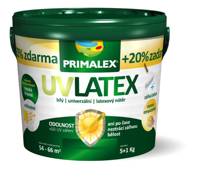 PRIMALEX UV LATEX - Matná umývateľná farba s vysokou belosťou